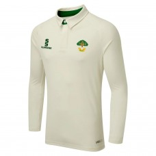Allestree CC Long Sleeve ERGO Cricket Shirt (Green Trim)