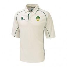 Allestree CC 3/4 Sleeve Cricket Shirt (Green Trim)