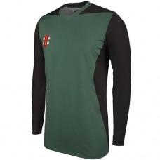 Appleby Magna T20 Long Sleeve Cricket Shirt (Green Trim)