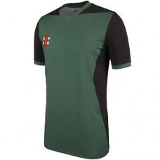 Appleby Magna T20 Short Sleeve Cricket Shirt (Green Trim)