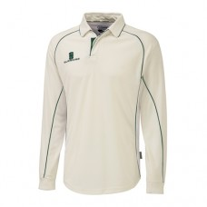 Yoxall CC Long Sleeve Cricket Shirt (Green Trim)