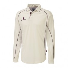 Merton CC Long Sleeve Cricket Shirt (Maroon Trim)