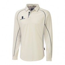 Winshill CC Long Sleeve Cricket Shirt (Navy Trim)