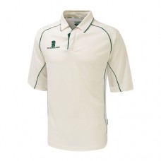 Nuneaton CC 3/4 Sleeve Cricket Shirt (Green Trim)
