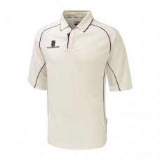 Merton CC 3/4 Sleeve Cricket Shirt (Maroon Trim)
