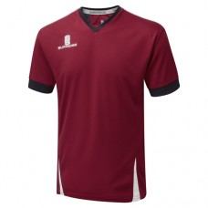 Crossbank Meths CC Blade Training Shirt Navy/Maroon/White