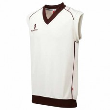 Merton CC Sleeveless Cricket Sweater (Maroon Trim)