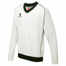 Yoxall CC Long Sleeve Cricket Sweater (Green Trim)