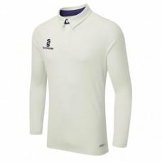 Grace Dieu CC Long Sleeve ERGO Cricket Shirt (Navy Trim)